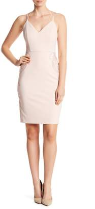 GUESS V-Neck Strap Crossback Dress