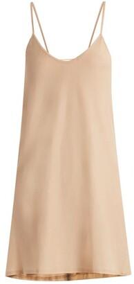 Skin - Scoop Neck Pima Cotton Jersey Slip Dress - Womens - Nude