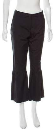Dries Van Noten Mid-Rise Wide-Leg Ruched Pants w/ Tags