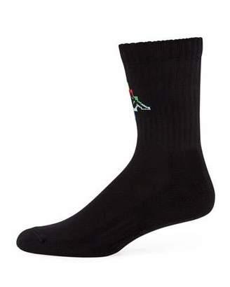 Marcelo Burlon County of Milan Men's Kappa Multicolor-Logo Short Socks