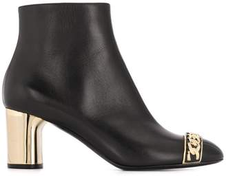 Casadei chain trim ankle boots
