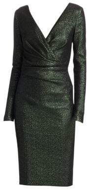 Talbot Runhof Metallic Crossover Dress