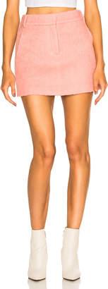 Tibi Luxe Mohair Coating Mini Skirt in Pink Haze | FWRD
