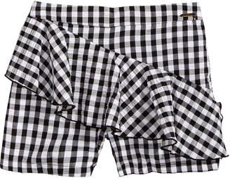 GUESS Ruffle-Trim Gingham Shorts, Big Girls