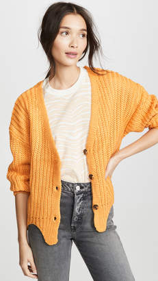 Moon River Oversized Button Up Cardigan