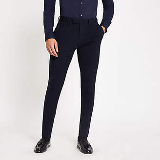 River Island Navy super skinny suit pants