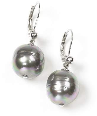 Majorica Women's 12mm Baroque Grey Simulated Pearl Drop Earrings