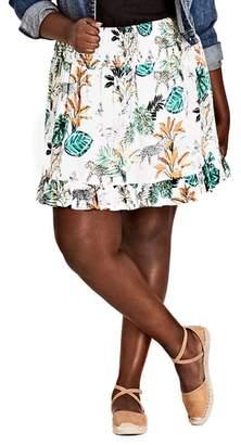 City Chic Jungle Study Skirt