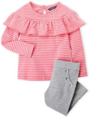 Nautica Infant Girls) Two-Piece Stripe Top & Leggings