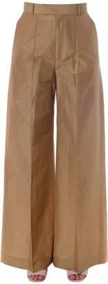 Celine Linen-cotton Blend Palazzo Trousers
