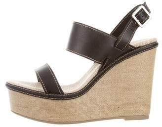 Castaner Leather Platform Wedges