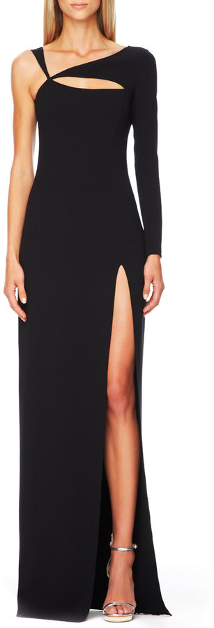 Michael Kors Cutout Single-Sleeve Gown