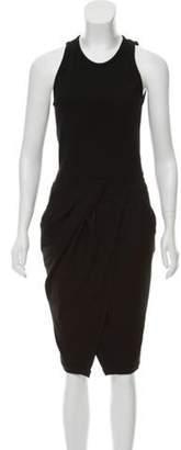 Helmut Lang Wool Mini Dress Black Wool Mini Dress
