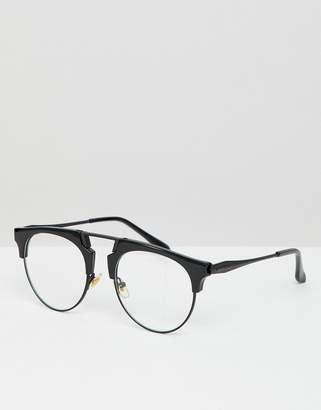 retro glasses in black