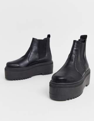 Asos Design DESIGN Amplify chunky chelsea boots in black