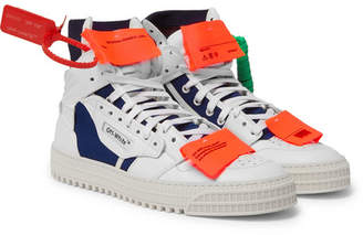 Off-White Low 3.0 Leather And Canvas High-Top Sneakers