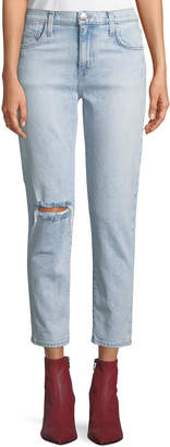 Current/Elliott The Vintage Cropped Slim-Leg Jeans