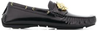 Versace Medusa logo loafers