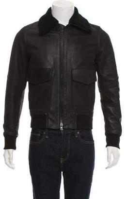 Rag & Bone Leather Shearling Flight Jacket