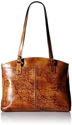 Patricia Nash Poppy Top Zip Map Tote Shoulder Bag