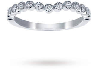 18ct White Gold 0.20cttw Bead Edge Band Ring