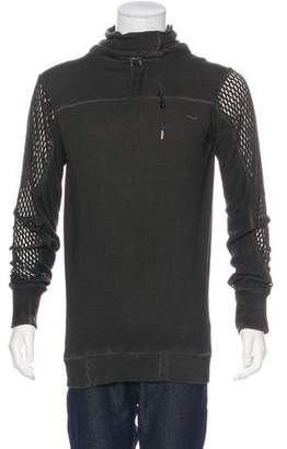 Boris Bidjan Saberi Sterling-Accented Cowl Neck Sweater