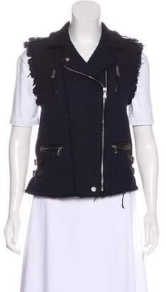 Rebecca Taylor Tweed Frayed Vest