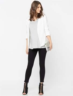 AG Jeans Secret Fit Belly Legging Ankle Maternity Jeans- Super Black
