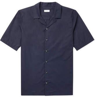 Sunspel Ian Fleming Camp-Collar Sea Island Cotton-Poplin Shirt