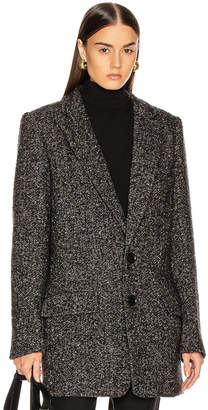 Tibi Multi Color Tweed Long Blazer in Black Multi | FWRD