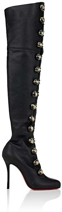 Christian Louboutin Women's Leather Over-The-Knee Boots