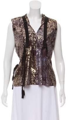 Issey Miyake Silk Patterned Blouse
