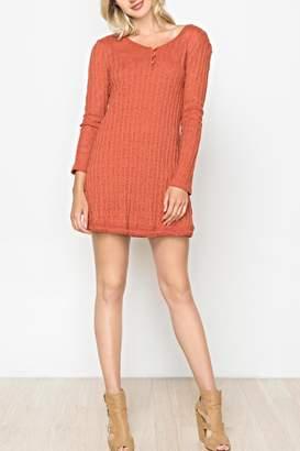 Monoreno Mur Knit Henley Tunic/sweater