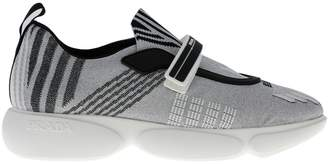 Prada Sneakers Clodbust Sneakers In Technical Nylon Lurex And Rubber With Maxi Sole And Buckle
