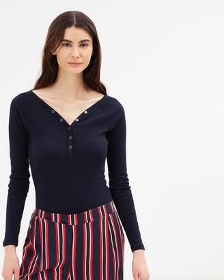 Cotton On Halle Henley Long Sleeve Bodysuit