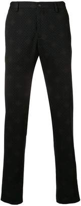Etro printed slim fit trousers