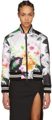 Off-White Multicolor Duchesse Varsity Jacket