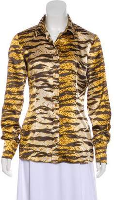 Dolce & Gabbana Long Sleeve Abstract Print Top