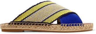 Diane von Furstenberg Millie Canvas And Suede Espadrille Sandals - Blue