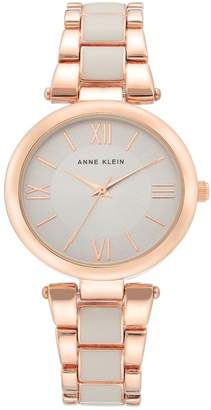 Anne Klein Women's Rose Gold-Tone & Enamel Bracelet Watch, 33mm