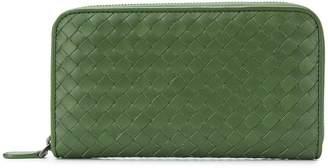 Bottega Veneta zip-around woven wallet