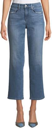 NYDJ Marilyn Whipstitch-Trim Straight Leg Jeans