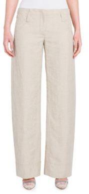 Giorgio Armani Linen Wide-Leg Pants $1,495 thestylecure.com