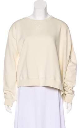 MM6 MAISON MARGIELA Asymmetrical Scoop Neck Sweatshirt