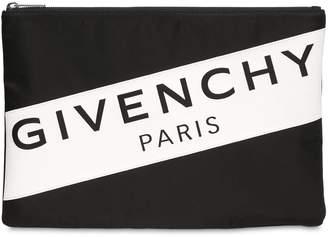 Givenchy (ジバンシイ) - GIVENCHY ロゴプリント ナイロンポーチ