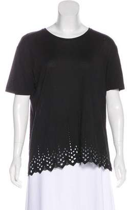 The Kooples Embroidered Short Sleeve Top