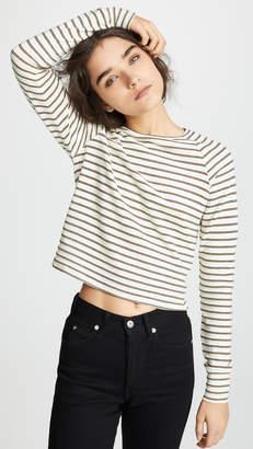 LnA Ema Metallic Stripe Top