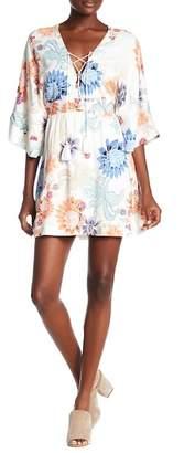 MinkPink Zion Printed Kimono Dress