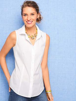 Talbots The Classic Sleeveless Button Front Shirt