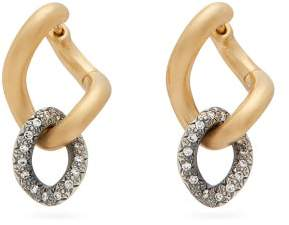 hum 18kt Gold, Sterling Silver & Diamond Earrings - Womens - Silver Gold